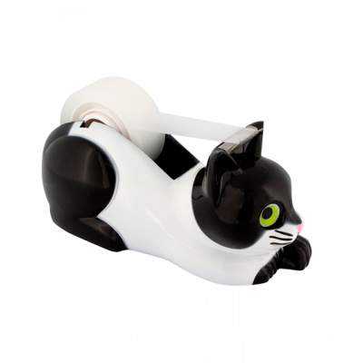 Sticky tape dispenser - Stick on Cat
