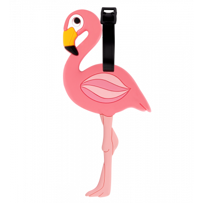 Luggage label - Ani-luggage Flamingo