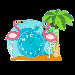 Réveil - Funny Clock Flamingo