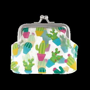 Porte-monnaie avec fermoir à clip - Clipurse Cactus