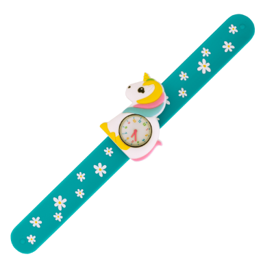 Slap watch - Funny Time Unicorn blue