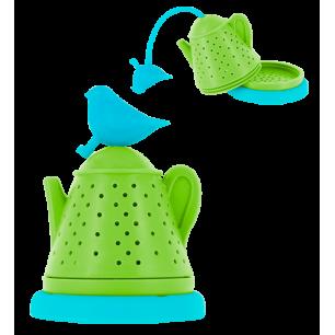 Bird Teapot - Teefilter Blau / Grün