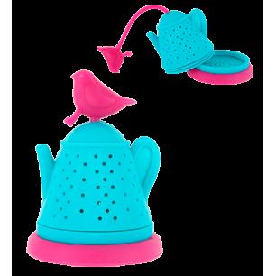 Bird Teapot - Teefilter Rosa / Blau