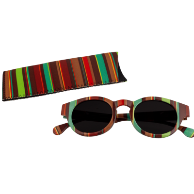 Sunglasses - Lunettes X4 Rondes Bayadere