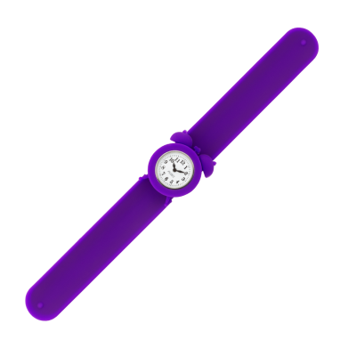 Slap alarm clock watch - My Time 2 Purple