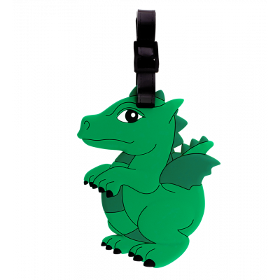 Luggage label - Ani-luggage Dragon Vert