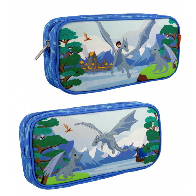 Rectangular pencil case - Planete Ecole Le Voyage Fantastique Dragon