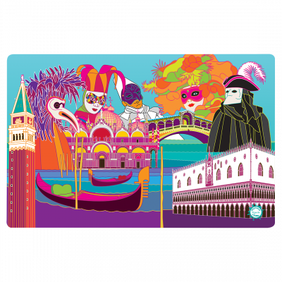 Placemat - Set my city Venice