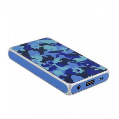 Portable battery 5000mAh - Get The Power 2 Camouflage Blue