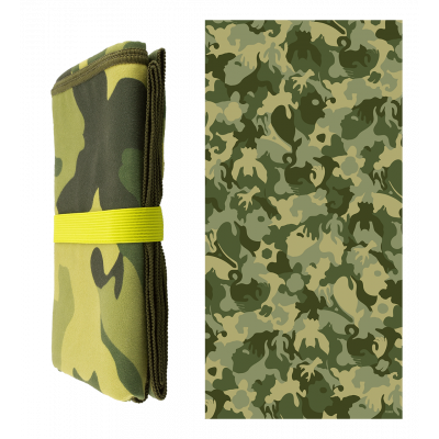 Microfibre towel - Body DS Camouflage Green