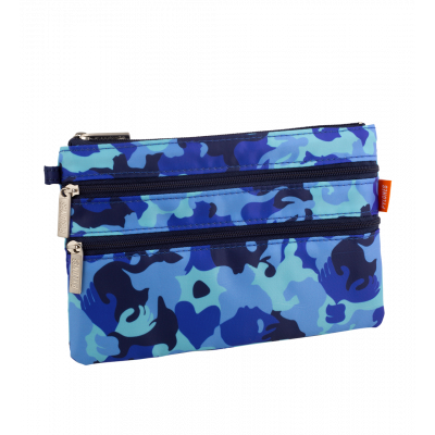 3 zip pouch - Zip It Camouflage Blue