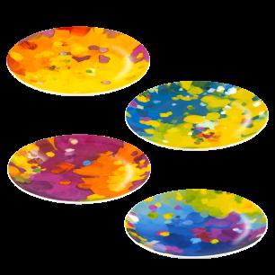Set of 4 Plates - Art de Vivre Palette