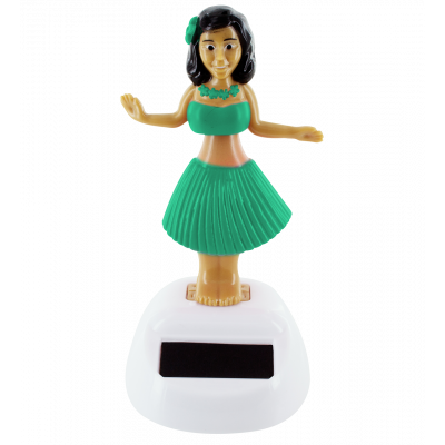 Solar-powered hula girl - Hawaïan Girl Turquoise