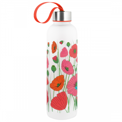 Flask - Happyglou Large Coquelicots