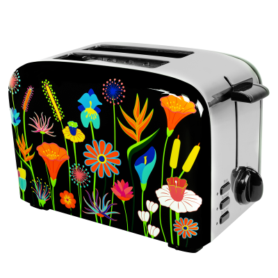 Toaster with European plug - Toast'in 2 Jardin fleuri