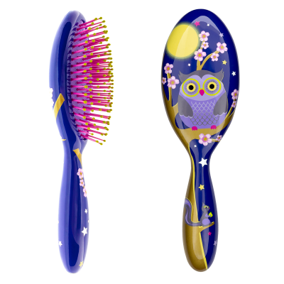 Hairbrush - Ladypop Large Blue Owl