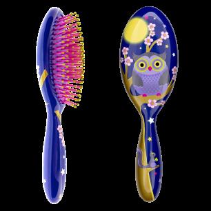 Grande brosse à cheveux - Ladypop Large Blue Owl