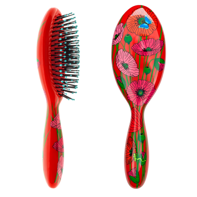 Hairbrush - Ladypop Large Coquelicots