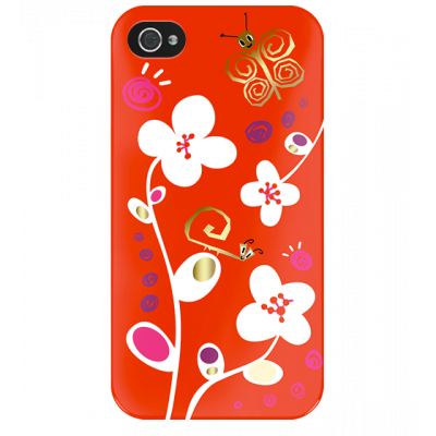 I Cover 4 - Cover per iPhone 4/4S White Flower