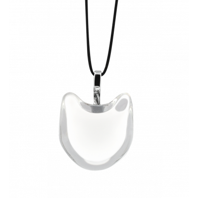Necklace - Cat nano milk White