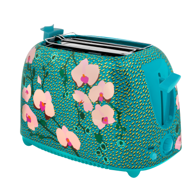 Toaster with European plug - Tart'in Orchid Blue