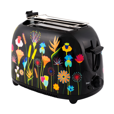 Toaster with European plug - Tart'in Jardin fleuri