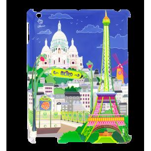 Coque pour iPad 2 et iPad retina - I Big Cover Paris Bleu