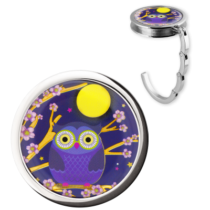 Handbag hook - Dîner en Ville Blue Owl