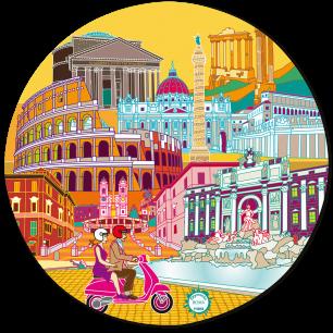 Mouse pad - Tapiron Citymania Rome