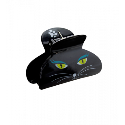 Pince à cheveux crabe - Ladyclip Small Black Cat