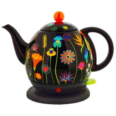Electric kettle with european plug - Byzance Jardin fleuri