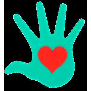Dessous de plat - Le Coeur Sur La Main Turquoise