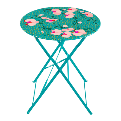 Folding table - Garden Paradise Orchid Blue