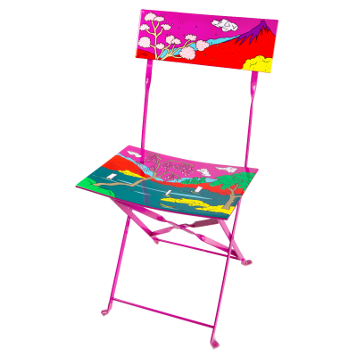 Folding chair - Garden Paradise Estampe