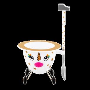 Coquetier design - Cocotte Licorne