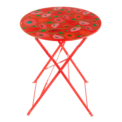 Folding table - Garden Paradise Coquelicots