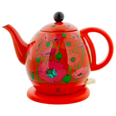 Electric kettle with european plug - Byzance Coquelicots