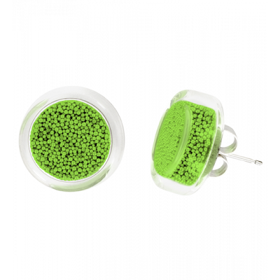 Stud earrings - Cachou Billes Green