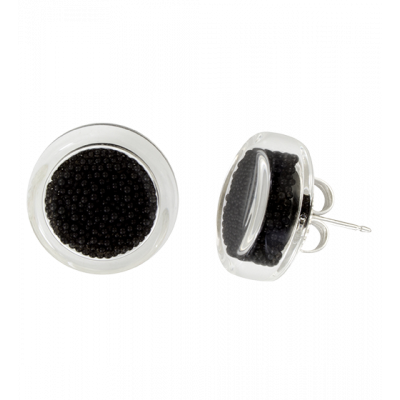 Cachou Billes - Stud earrings Black