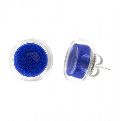 Cachou Billes - Stud earrings Dark Blue