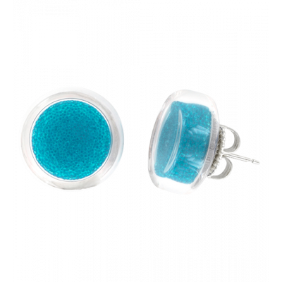 Cachou Billes - Stud earrings Royal blue
