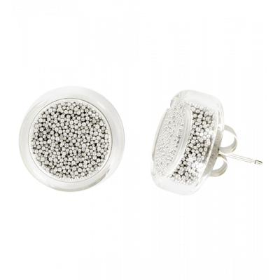 Stud earrings - Cachou Billes Silver