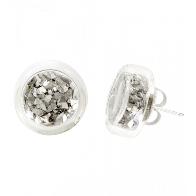 Stud earrings - Cachou Paillettes Silver