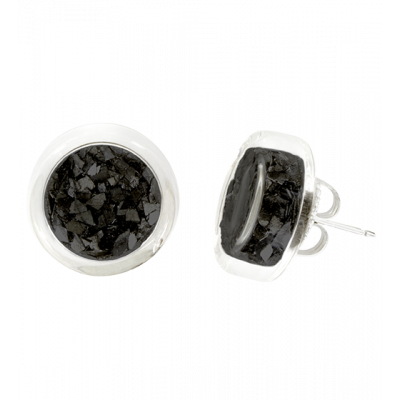 Stud earrings - Cachou Paillettes Black