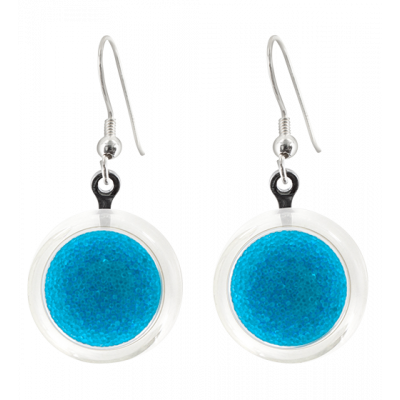 Cachou Billes - Hook earrings Royal blue