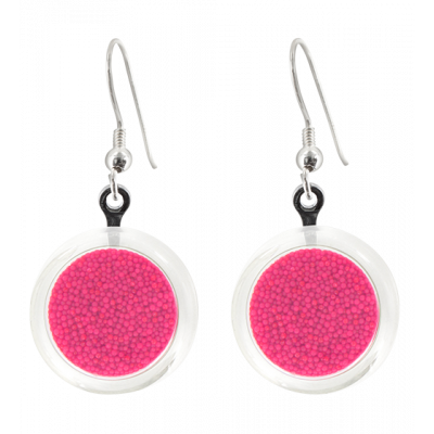 Cachou Billes - Hook earrings Fuchsia