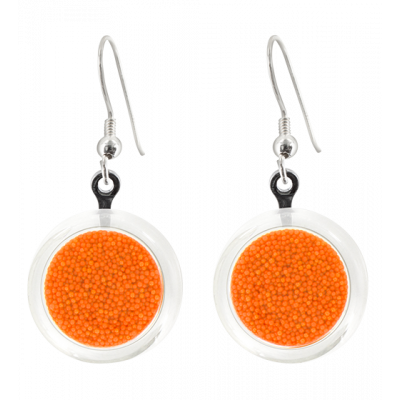 Boucles d'oreilles crochet - Cachou Billes Orange