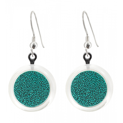 Cachou Billes - Hook earrings Turquoise