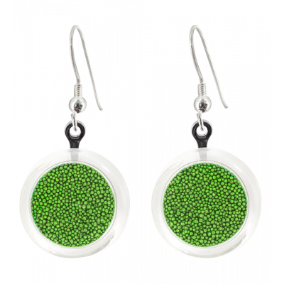 Cachou Billes - Hook earrings Green