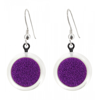 Hook earrings - Cachou Billes Purple
